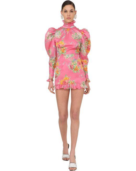 Alessandra Rich オーガンザミニドレス Pink