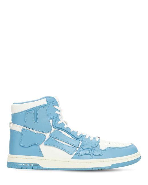 Кожаные Кроссовки Amiri для него, цвет: Blue