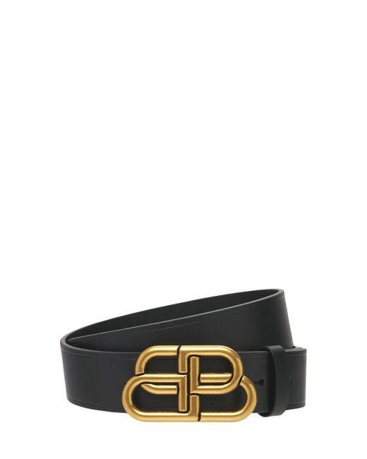 Кожаный Ремень С Пряжкой-логотипом Balenciaga для него, цвет: Black