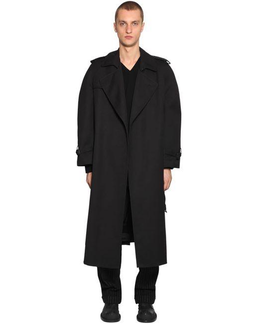 メンズ Maison Margiela オーバーサイズコットンギャバジントレンチコート Black