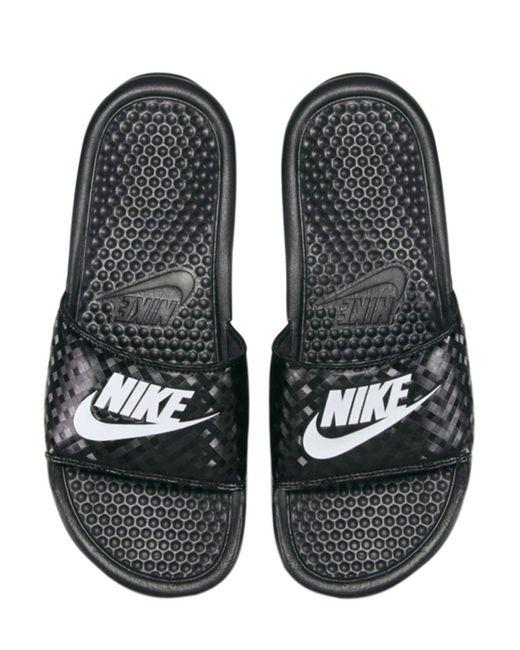 Nike Benassi ラバースライドサンダル Black