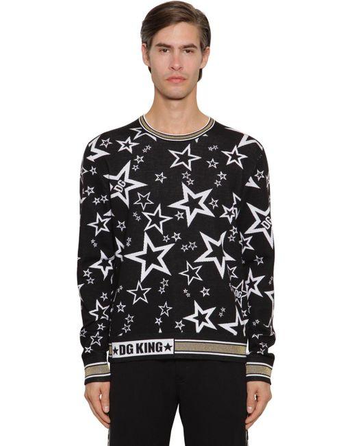 メンズ Dolce & Gabbana ヴァージンウールブレンドセーター Black