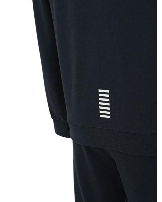 メンズ EA7 コットントラックスーツ Blue