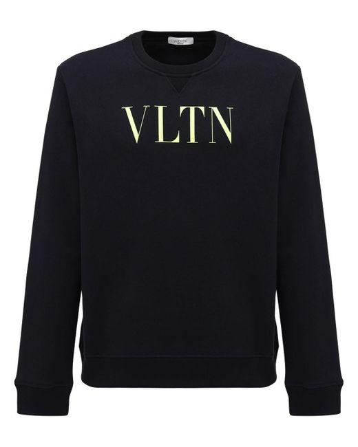 メンズ Valentino コットンブレンドスウェットシャツ Black