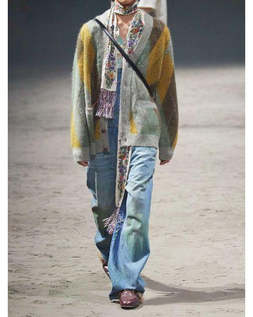 メンズ Gucci モヘアブレンドニットカーディガン Multicolor