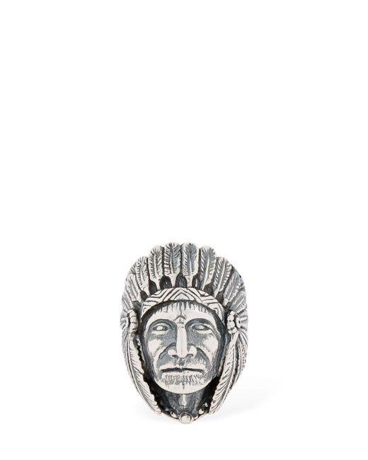 """Anillo """"great Indian Head"""" Cantini Mc Firenze de hombre de color Metallic"""