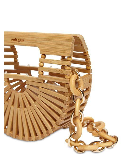 Cult Gaia Nano Bamboo トップハンドルバッグ Natural
