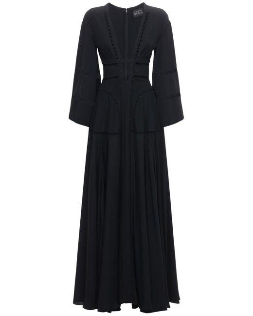 Giovanni bedin シルククレープドレス Black