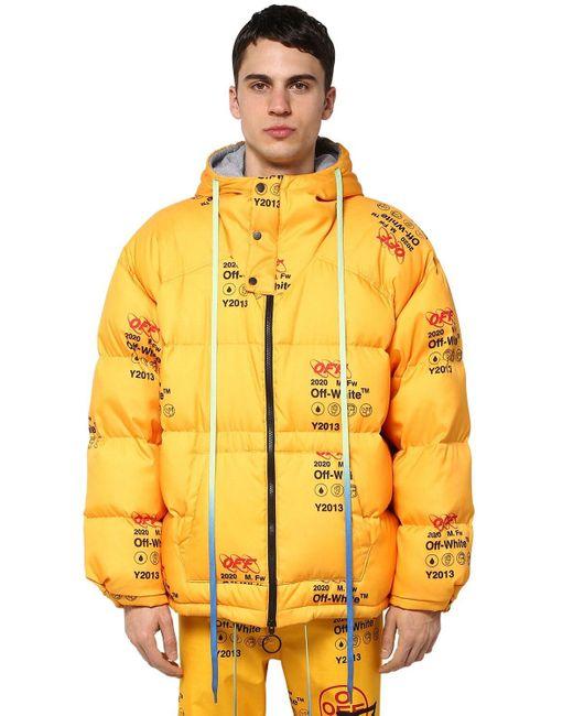 Пуховик С Капюшоном Off-White c/o Virgil Abloh для него, цвет: Yellow