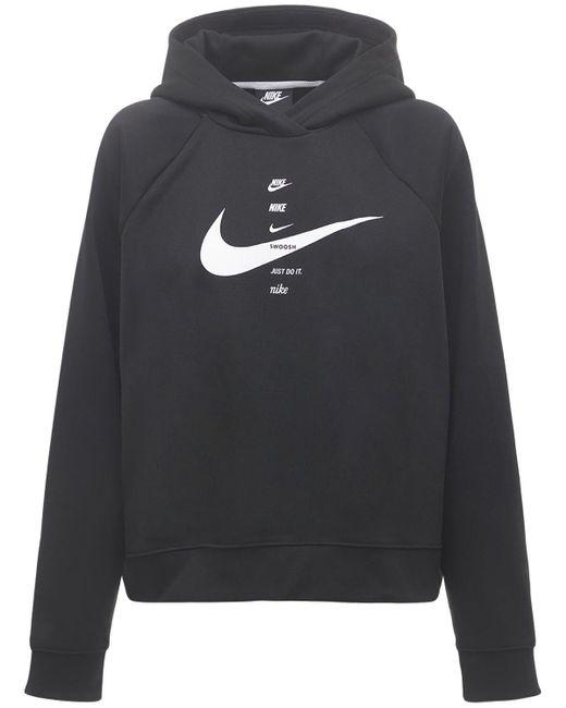 Nike Black Sportswear Swoosh -Hoodie