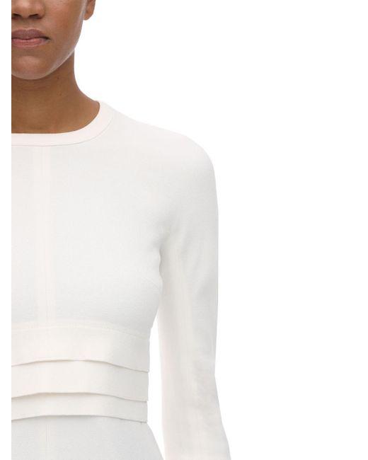 Top In Crepe Di Acetato E Viscosa di Proenza Schouler in White