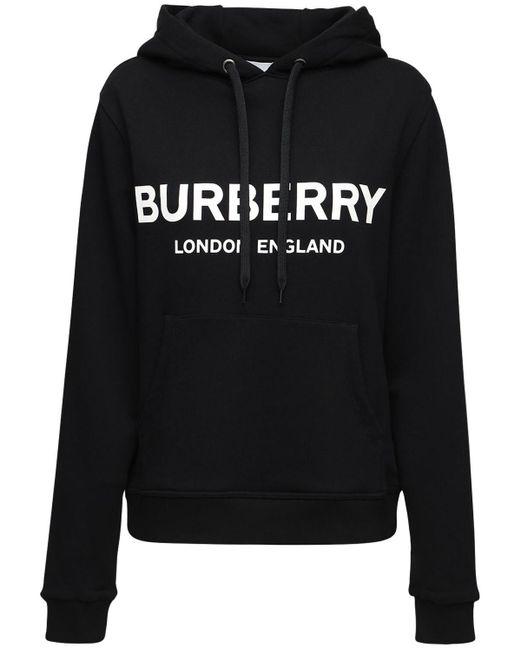 メンズ Burberry ブラック Lexstone ロゴ フーディ Black