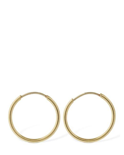 AG Jeans Metallic 18kt Gold Small Hoop Earrings