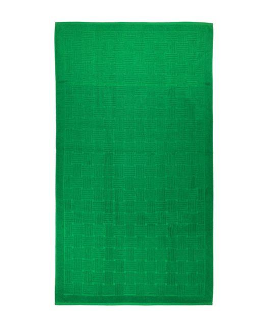 Пляжное Полотенце Из Хлопка С Принтом Bottega Veneta, цвет: Green
