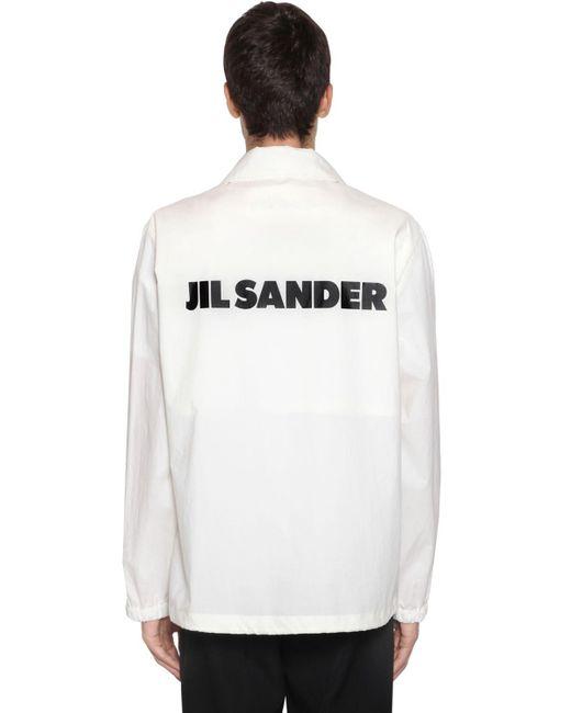 メンズ Jil Sander テックポプリンシャツジャケット White