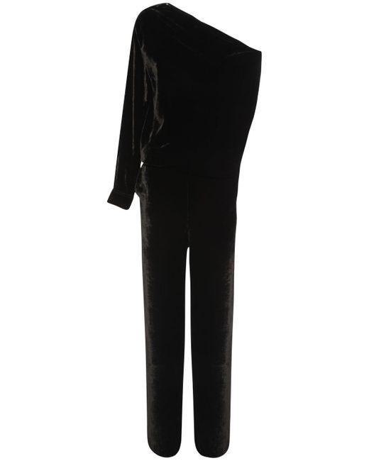 MM6 by Maison Martin Margiela ベルベットジャンプスーツ Black