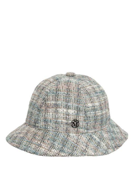 Твидовая Шляпа Maison Michel, цвет: Gray
