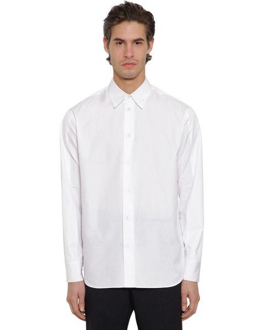 メンズ Jil Sander コットンポプリンシャツ White