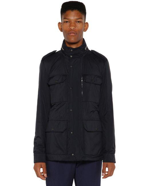 Куртка Из Нейлона На Пуху Moncler для него, цвет: Blue