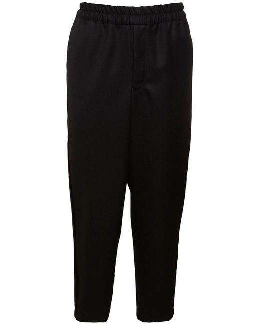 メンズ Comme des Garçons 15cm ウールギャバジンパンツ Black