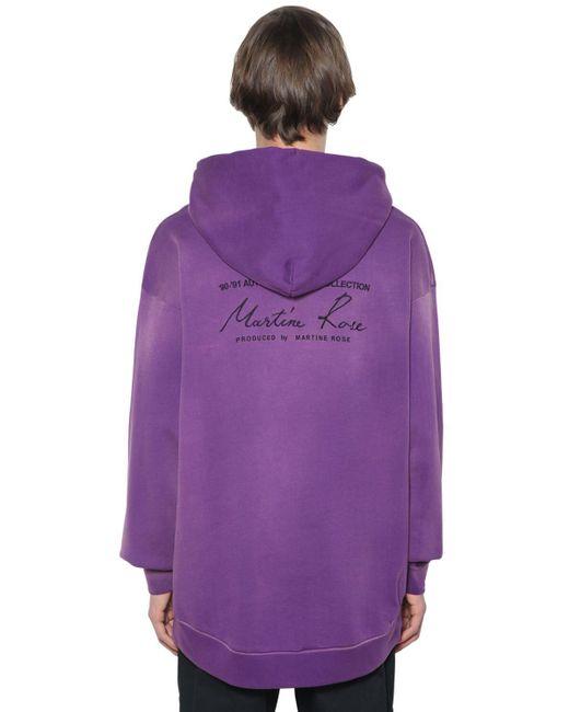 メンズ Martine Rose コットンジャージースウェットフーディ Purple