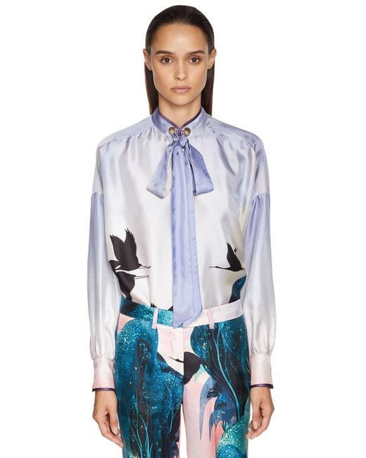 Жаккардовая Рубашка С Принтом F.R.S For Restless Sleepers, цвет: Blue