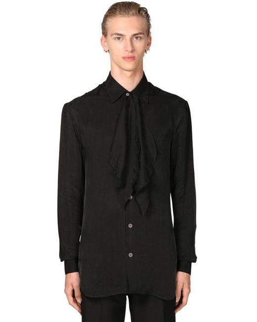 メンズ Loewe キュプラシャツ Black