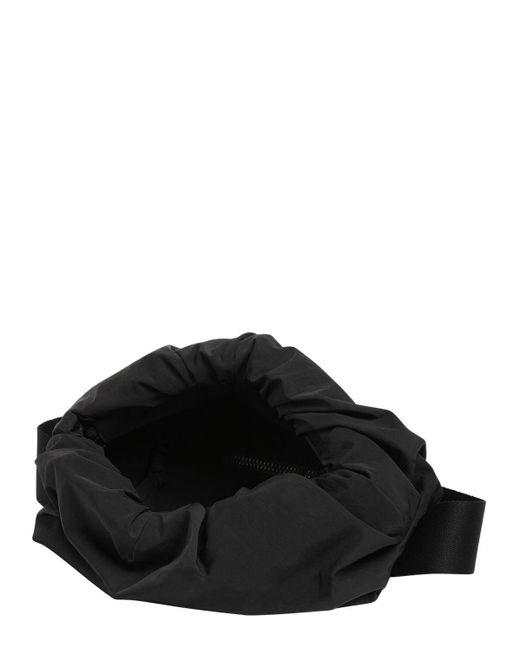 メンズ Bottega Veneta ペーパーナイロンベルトバッグ Black