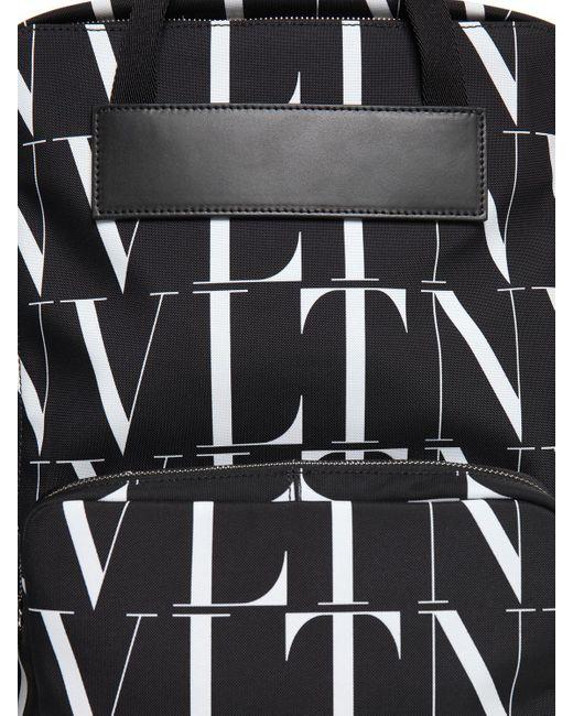メンズ Valentino Vltn Times ナイロンバックパック Black