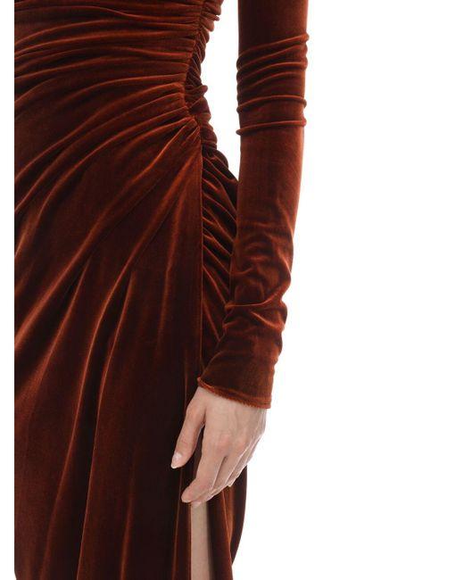 Alexandre Vauthier ストレッチベルベット オフショルダードレス Multicolor