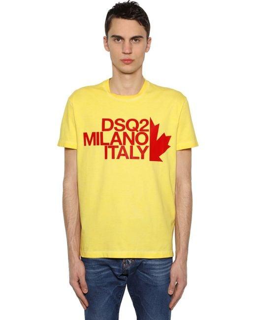 メンズ DSquared² コットンジャージーtシャツ Yellow