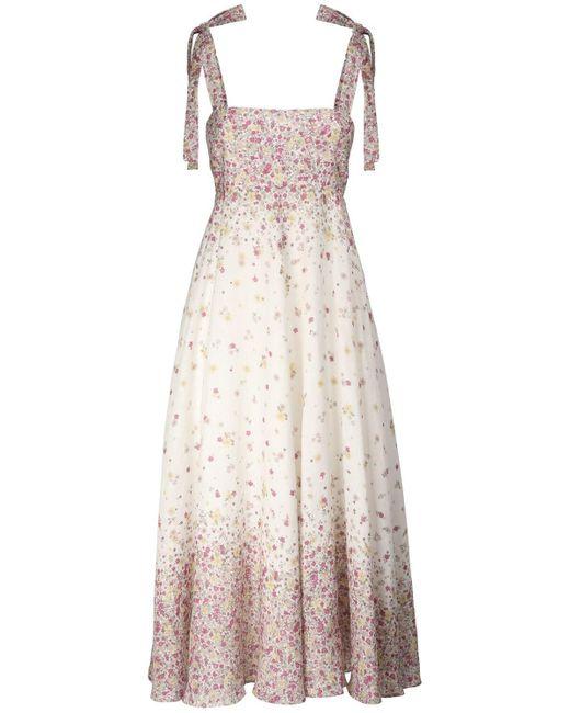 Платье Миди Из Льна С Принтом Carnaby Zimmermann, цвет: Multicolor