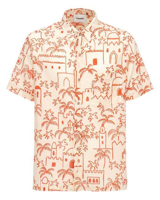 メンズ Nanushka プリントコットンシャツ Orange