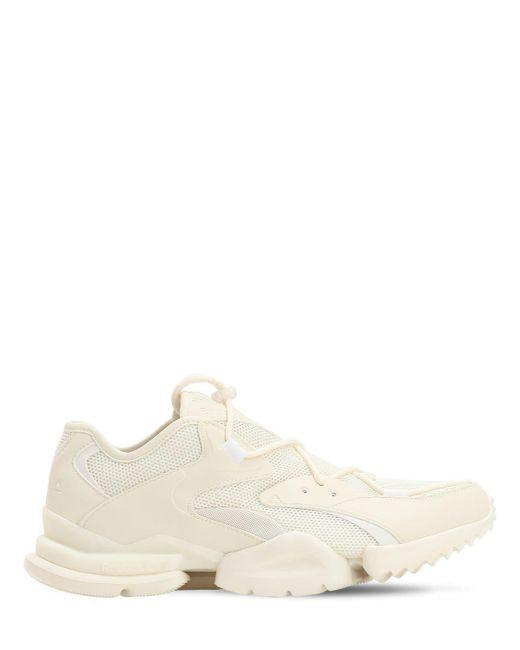 Reebok White Run R 96 Mesh Sneakers