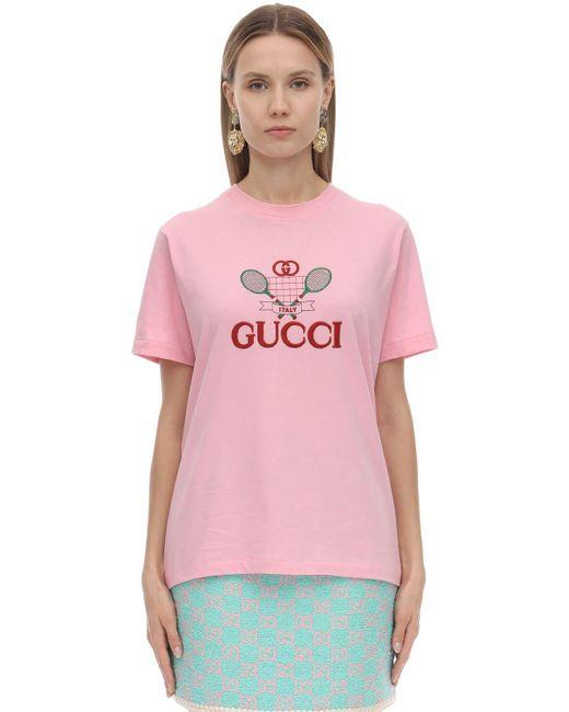 Gucci テニス Tシャツ Pink