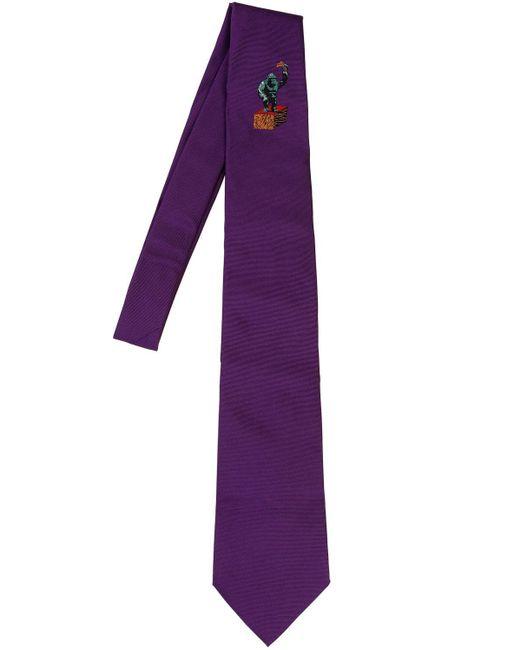 Corbata De Seda Estampada 8cm Etro de hombre de color Purple