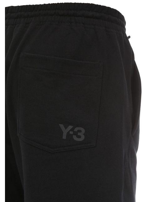 Y-3 Shorts Aus Baumwolle in Black für Herren