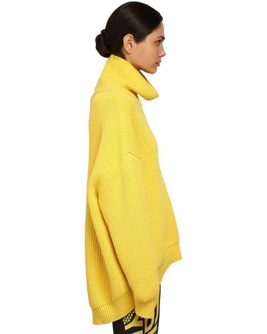 Givenchy ウール オーバーサイズリブニットセーター Yellow