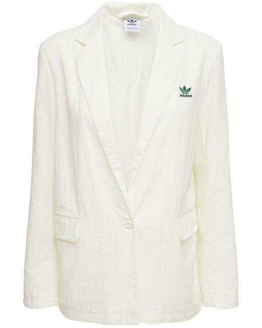 Adidas Originals ナイロンブレザー White