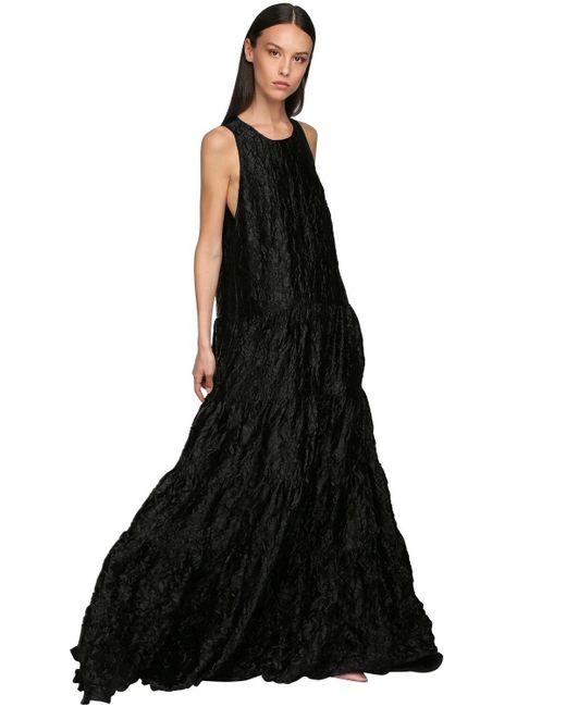Rochas サテンドレス Black