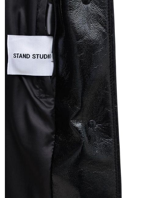 Stand Studio Aurora エコファーコート Black