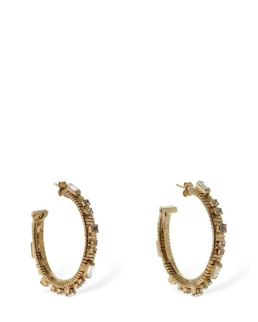 Rosantica Argo Hoop Earrings W/ Crystals Metallic