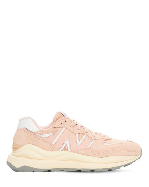 New Balance 5740 メッシュ&レザースニーカー Pink