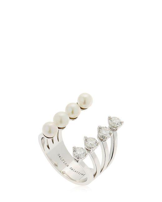 Delfina Delettrez   Domino Pearl Dots White Gold Ring   Lyst