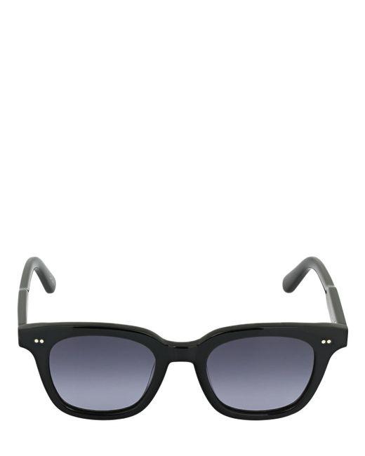 "Chimi Black Schwarze, Quadratische Acetat-sonnenbrille ""101"""
