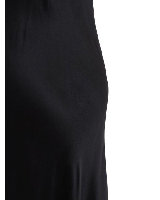 Luna Di Seta シルクサテンスリップドレス Black