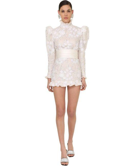 Alessandra Rich チュールミニドレス White