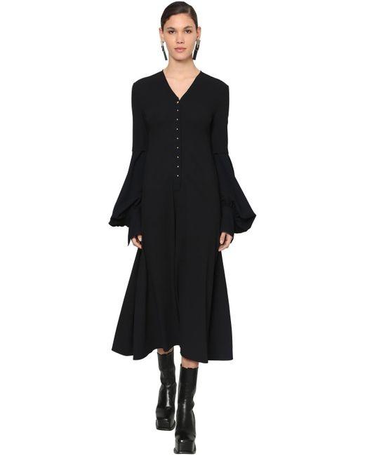 Loewe ウールクレープドレス Black