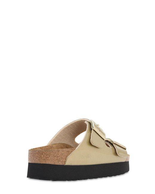 Birkenstock Women's Metallic Papillio Arizona Platform Sandals