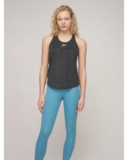 Leggings Vita Media di Nike in Blue